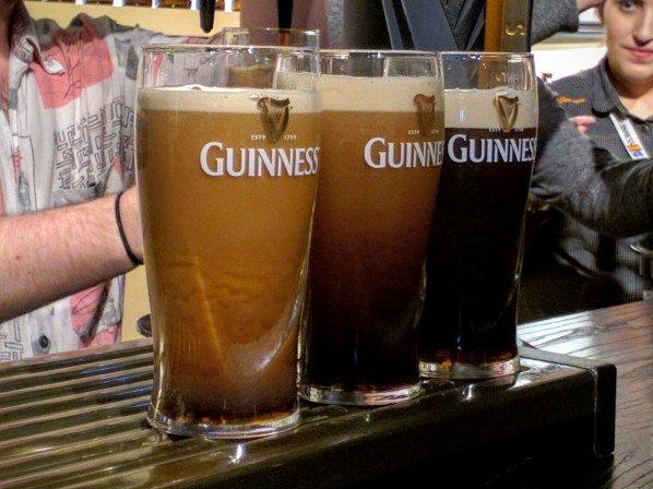 A Guinness takes about a minute to settle.