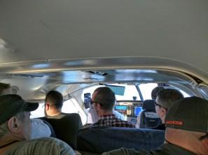 The plane was pretty small.