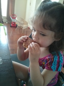 Catalina Eating Grilled Cheese