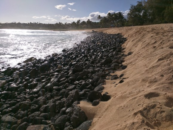 Rocks along the beach, Koloa, HI