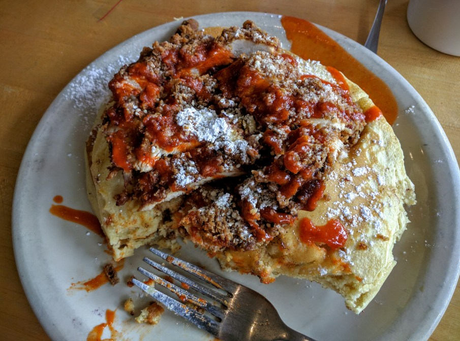 Chicken and Pancakes, Kerbey Lane, Austin, TX