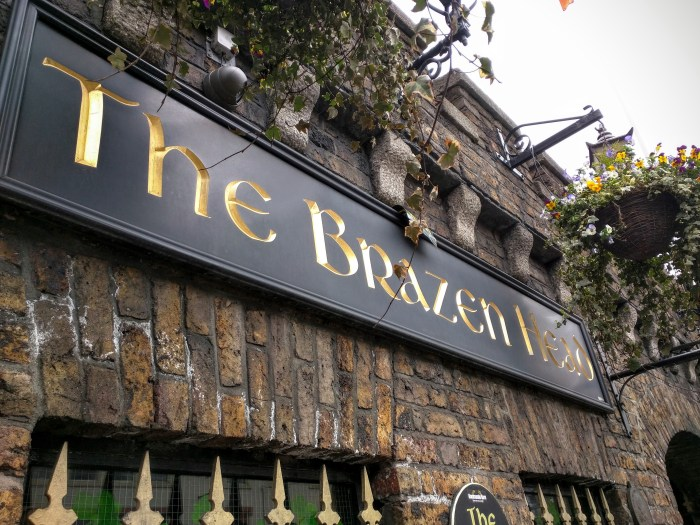 The Brazen Head, founded in 1198, claims to be Ireland's oldest pub.