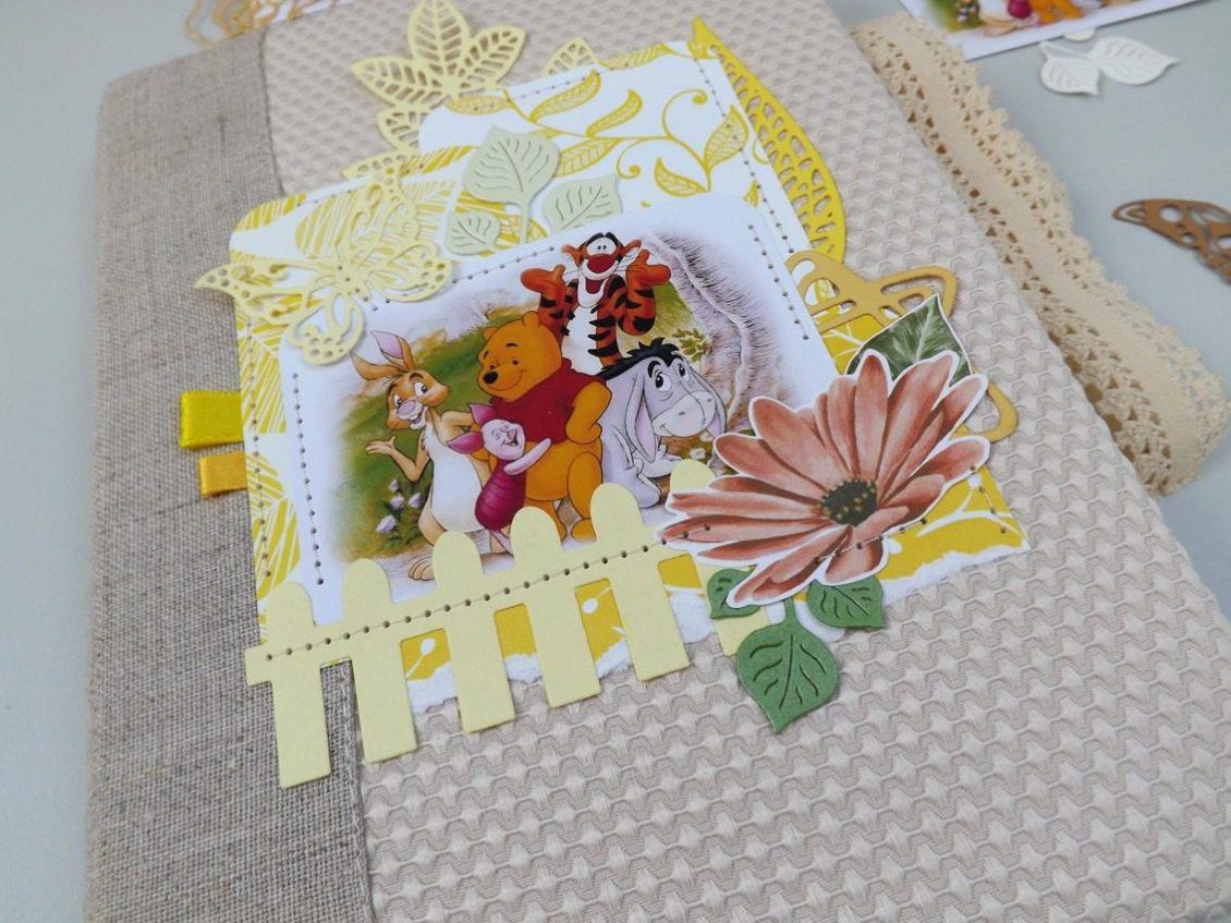 album foto handmade, album winnie pooh, album foto bebelus,