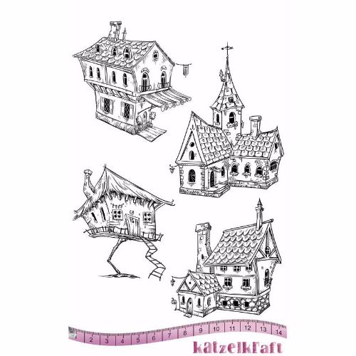 les-maisons-rubber-stamp-french-style