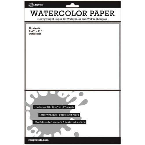 Inkssentials Watercolor Paper 10/Pkg White 8.5″X11″