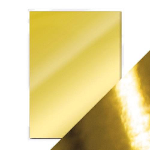 Tonic Studios Mirror Glossy Cardstock 8.5″X11″ 5/Pkg Polished Gold
