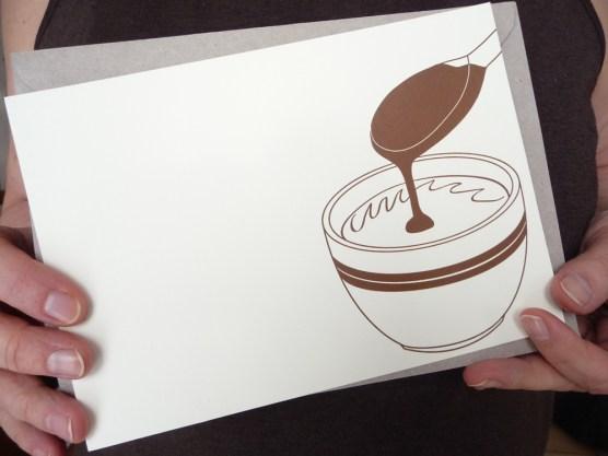 "Carte ""chocolat chaud"" par Kraftille"