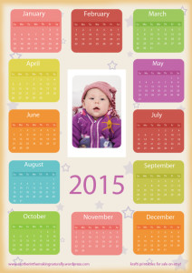 Calendar2015 Printable