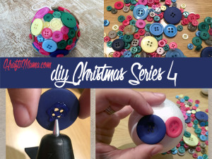 DIY Christmas, Button Bulbs