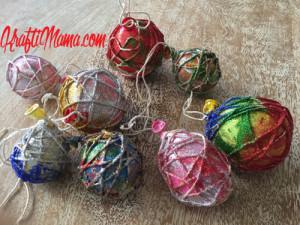 DIY Christmas, Glitter Rope bulbs