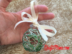 DIY Christmas, Glitter Rope bulbs