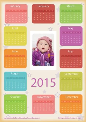 Free Printables: Calendars 2015