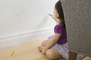 things I Learned From Parenthood, kid drawing on wall