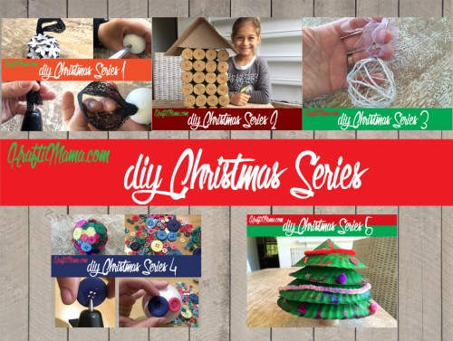 DIY Christmas series for last minute Christmas decorating with kids!