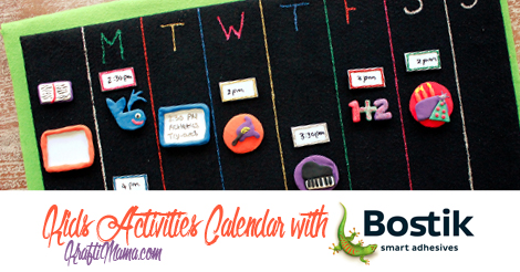 Kids Activities Calendar with Bostik