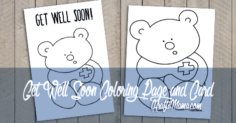 Get Well Soon Printable Card and Coloring Page