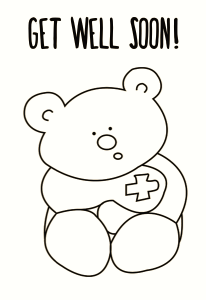 Get Well Soon Printable Coloring Pages