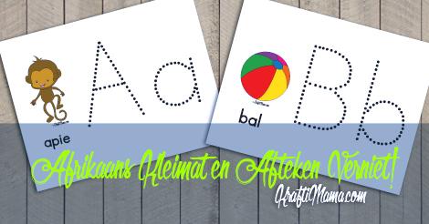 Afrikaans Alphabet, Kleimat, Afteken, Homeschooling, KraftiMama