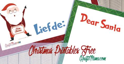 Free Chirstmas Printables- Dear Santa English and Afrikaans