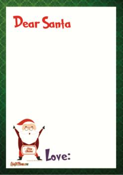 Christmas Printables Free, Dear Santa, Afrikaans