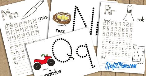 KraftiMama Afrikaans Printable, Alfabet, M,N,Q,R, Tuisskool