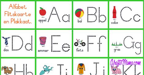 Alfabet Flitskaarte Verniet!