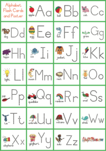 KraftiMama Free Printables, Alphabet, Flash Cards Poster