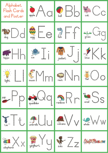 photograph regarding Printable Alphabet Flash Cards titled Flash Playing cards and Poster Cost-free!! KraftiMama