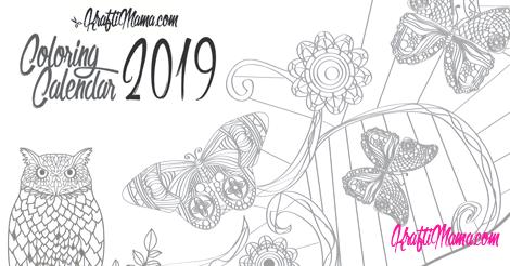 Coloring Calendar 2019 Printable!!