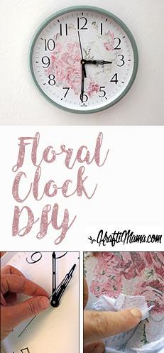 KraftiMama DIY,  floral clock, Christmas Gifts