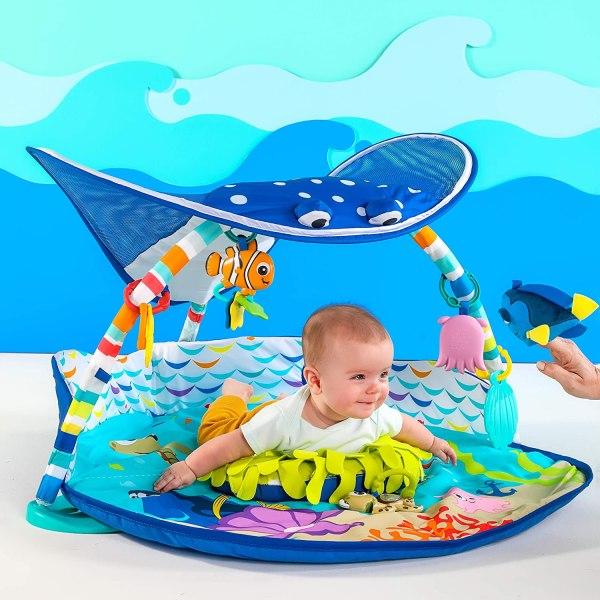 Bright Starts Disney Baby Mr. Ray Ocean Lights mazuļu aktivitāšu laukums 3