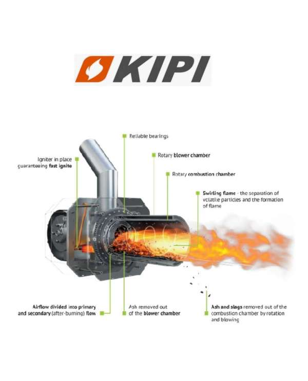 KIPI ROT-POWER 16kw paštīrošais granulu deglis 3