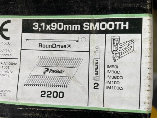 PASLODE 3,1x90mm naglas 141076 2