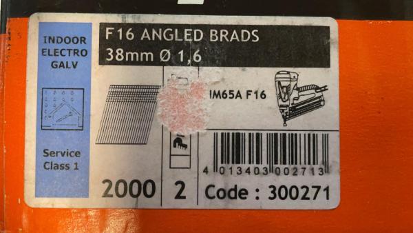 PASLODE 1,6x38mm naglas 300271 2