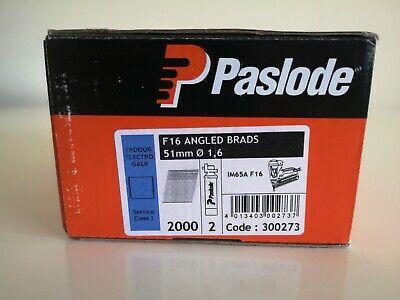 PASLODE F16 1,6x51mm elektrogalvanizētas naglas 300273 2