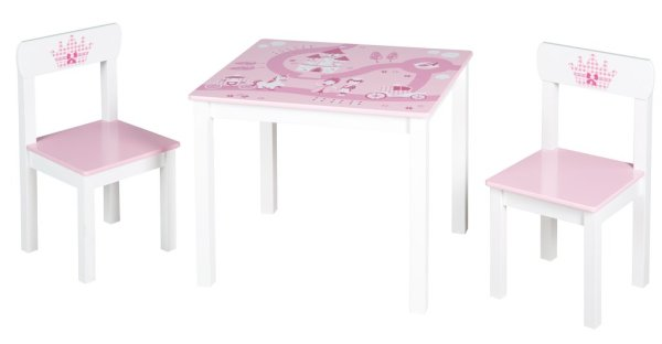 ROBA bērnu mēbeļu komplekts, rozā. 1