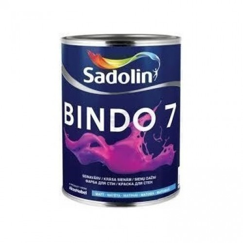 SADOLIN Bindo 7 BW Lateksa krāsa matēta, 1L 1