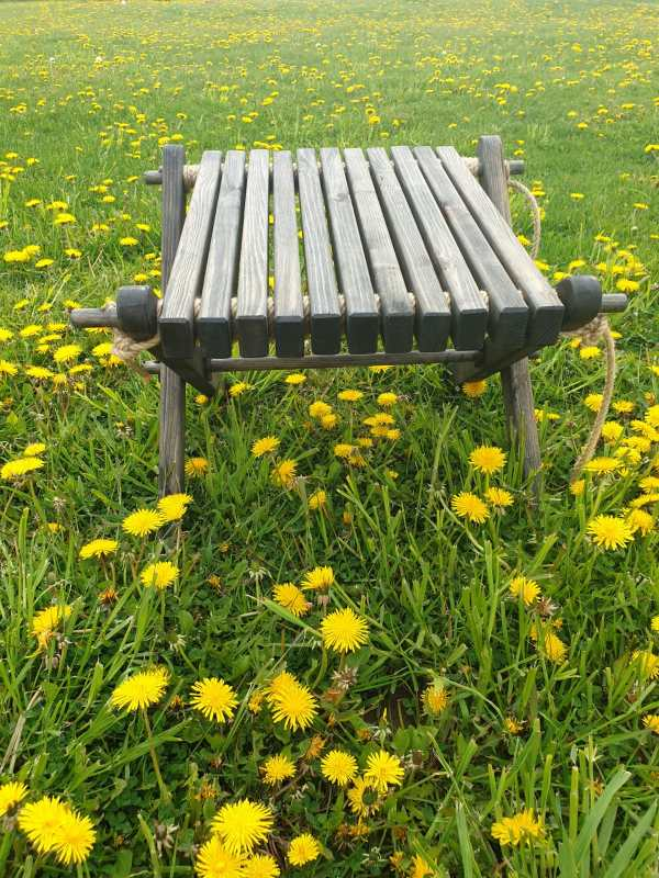 Salokāms dārza galds 2