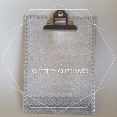 DIY Glittery Clipboard