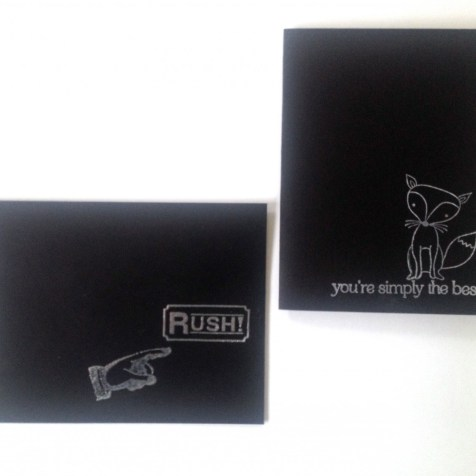 Envelope (Rush) and Fox design. Same materials as mentioned above.