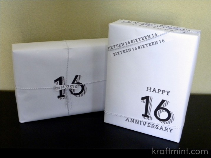 kraftmint black and white gift wrapping