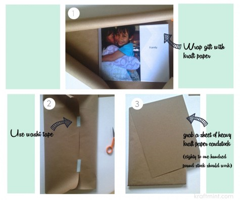 Gift wrapping with big photos by kraftmint