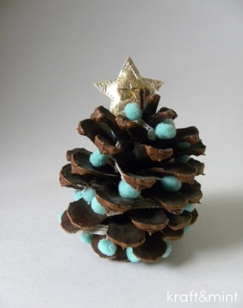 DIY Trimmed Pinecones by Kraft&mint