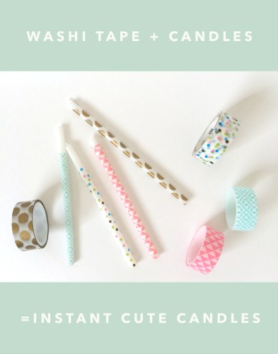 kraft&mint washi tape+candles