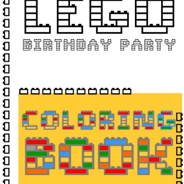 kraft&mint Lego party printable coloring book