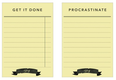 Get it done or procrastinate printable cards - kraft&mint blog