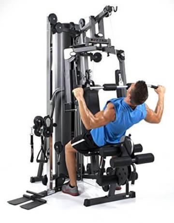 Die Finnlo Kraftstation Autark 2200GS bietet auch für Bodybuilder ein ausreichendes Trainingsgewicht.