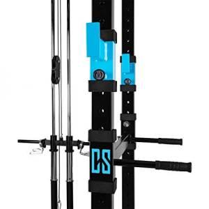 Auf der rechten Seite des Capital Sports Tremendour Power Rack kann man zwei Dip-Stangen befestigen.