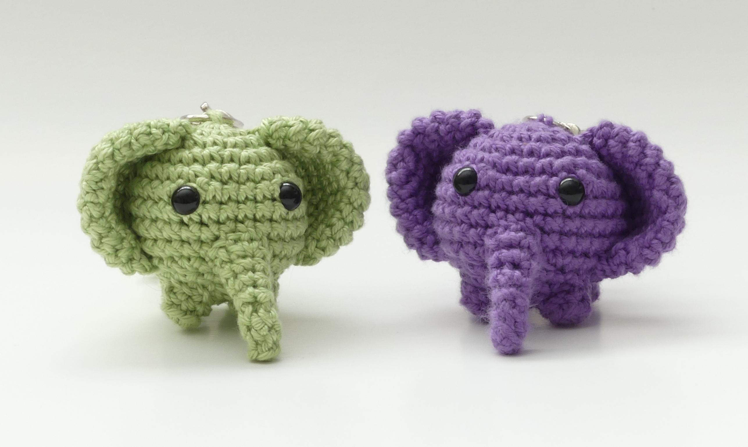 Crochet Elephant Amigurumi Key Chain | Crochet elephant pattern ... | 1538x2574