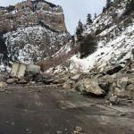 glenwood canyon rock fall feb 16 2